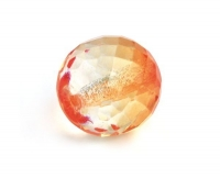 Glas-Facetten-Kugel 20mm mandarine
