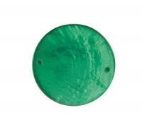 Perlmutt Schmuckelement Scheibe 30mm immergrün