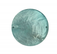 Perlmutt Schmuckelement Scheibe 40mm lagune