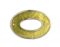 Perlmutt Schmuckelement Oval 40x28mm lindgrün