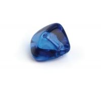 Glas-Nugget 14x19mm azurblau