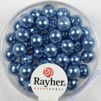 Renaissance Glaswachsperlen, 6 mm ø azurblau