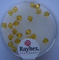 Swarovski Kristall-Schliffperlen 4mm 25St helltopaz (Restbestand)