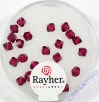 Swarovski Kristall-Schliffperlen 4mm 25St kardinalrot (Restbestand)