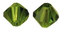 Swarovski Kristall-Schliffperlen 4mm 25St olive (Restbestand)