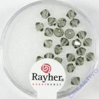 Swarovski Kristall-Schliffperlen 4mm 25St silbergrau (Restbestand)