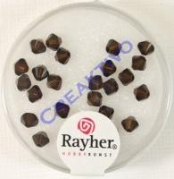 Swarovski Kristall-Schliffperlen 4mm 25St mokka (Restbestand)