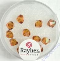 Swarovski Kristall-Schliffperlen 6mm 12St kupfergold (Restbestand)