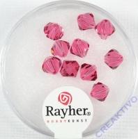 Swarovski Kristall-Schliffperlen 6mm 12St hot-pink (Restbestand)