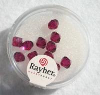 Swarovski Kristall-Schliffperlen 6mm 12St kardinalrot (Restbestand)