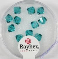 Swarovski Kristall-Schliffperlen 6mm 12St lagune (Restbestand)