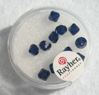 Swarovski Kristall-Schliffperlen 6mm 12St mittern.blau (Restbestand)