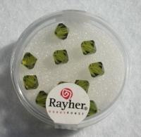 Swarovski Kristall-Schliffperlen 6mm 12St olive (Restbestand)