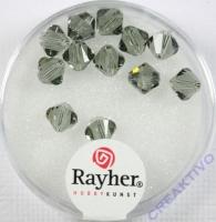 Swarovski Kristall-Schliffperlen 6mm 12St silbergrau (Restbestand)