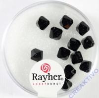 Swarovski Kristall-Schliffperlen 6mm 12St ebenholz (Restbestand)