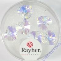 Swarovski Kristall-Herzen 10,5x10mm 7St mondstein