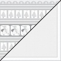 Scrapbooking-Papier Nikolaus 30,5x30,5xm 190g/m²