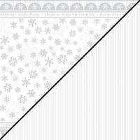 Scrapbooking-Papier Schneeflocke 30,5x30,5xm 190g/m²