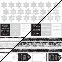 Scrapbooking-Papier Weihnachtsbogen 30,5x30,5xm 190g/m²