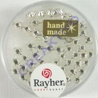 Glas-Rautenstäbchen 4x16mm 16St silber (Restbestand)
