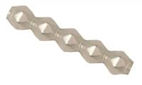Glas-Rautenstäbchen 5x20mm 12St weiß matt (Restbestand)