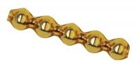 Glas-Rautenstäbchen 5x20mm 12St gold (Restbestand)