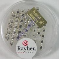 Glas-Rautenstäbchen 5x20mm 12St silber (Restbestand)