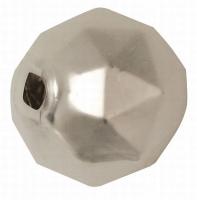 Glas-Rautenperlen 13mm 8St weiß matt (Restbestand)