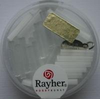 Glas-Stifte 2x15mm 33St weiß matt (Restbestand)