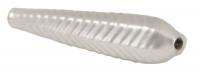 Glas-Tropfen 32x8mm länglich struktur 12St weiß matt (Restbestand)
