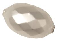 Glas-Olive 36x22mm facettiert 1St weiß matt (Restbestand)