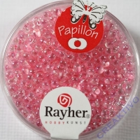 Papillon Rocailles 2x4 mm rosa chifon
