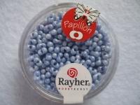 Papillon Rocailles 2x4 mm himmelblau