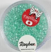 Papillon Rocailles 2x4 mm mintgrün
