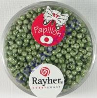 Papillon Rocailles 2x4 mm meergrün