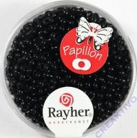 Papillon Rocailles 2x4 mm schwarz