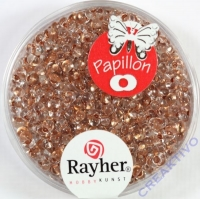 Papillon Rocailles 2x4 mm brill.kupfer