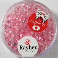 Papillon Rocailles 3,2x6,5mm rosa chiffon