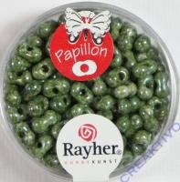 Papillon Rocailles 3,2x6,5mm meergrün