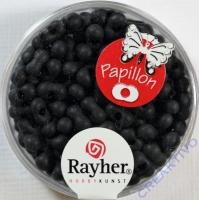 Papillon Rocailles 3,2x6,5mm matt schwarz