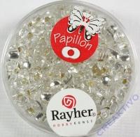 Papillon Rocailles 3,2x6,5mm bergkristall