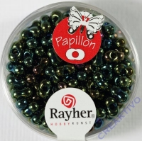 Papillon Rocailles 3,2x6,5mm smaragd