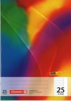 Heft A4 16 Blatt liniert mit Rand Nr.25