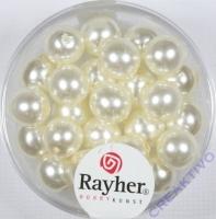 Renaissance Glaswachsperlen, 8 mm ø weiß