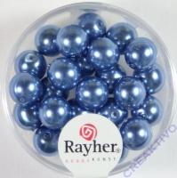 Renaissance Glaswachsperlen, 8 mm ø azurblau