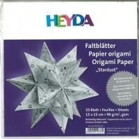 Heyda Faltblätter Origami Papier Stardust