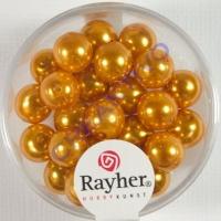 Renaissance Glaswachsperlen, 8 mm ø goldgelb