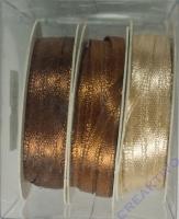 Rayher Satinband 3mm 3 x 6m Braun-Töne