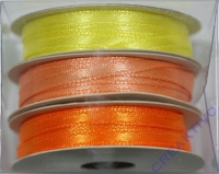 Rayher Satinband 3mm 3 x 6m orange, gelb, apricot