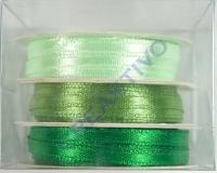 Rayher Satinband 3mm 3 x 6m Grün-Töne